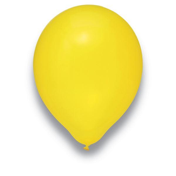 Latexballon Kristall Gelb 100 Stück Ø 30cm