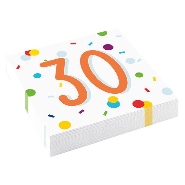 Confetti Birthday - 30. Geburtstag 20 Servietten