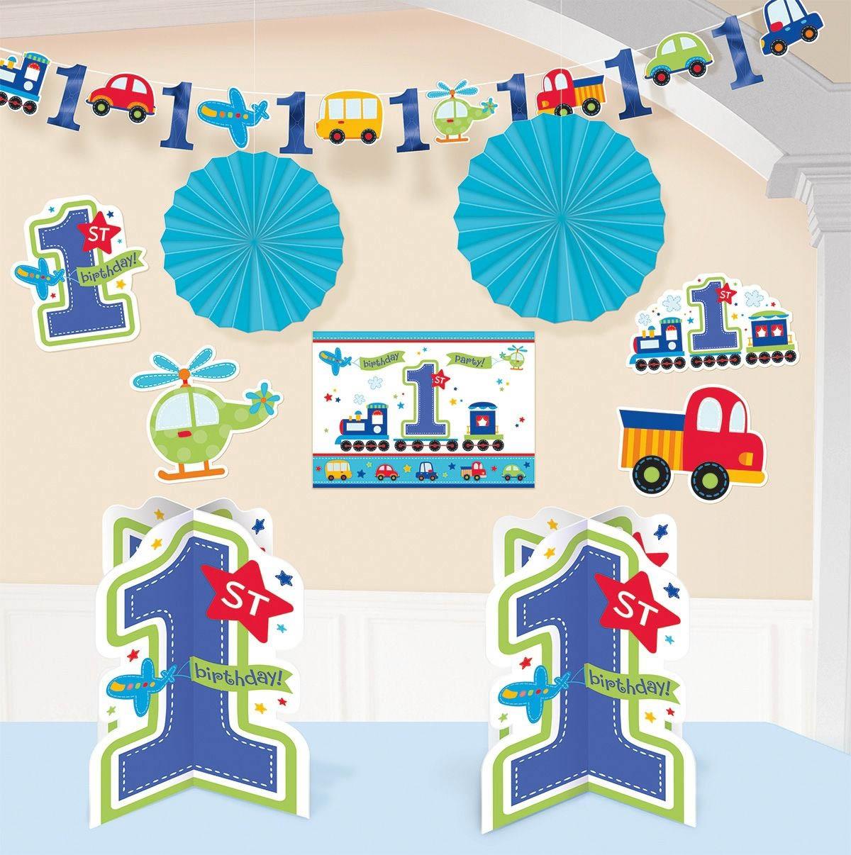 Alle An Bord 1 Geburtstag Deko Set 10 Tlg Fur Jungen 1