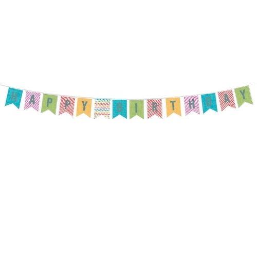 Bunte Geburtstags-Girlande Happy Birthday
