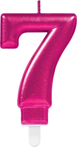 """Sparkling Celebrations Pink - Zahlenkerze """"7"""""""