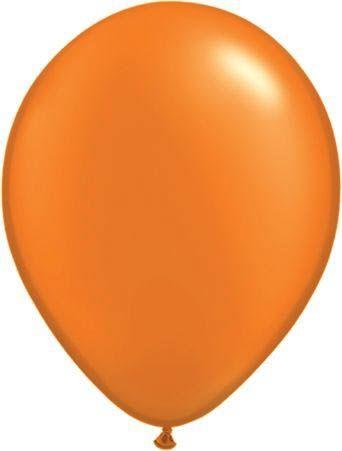 Qualatex Latexballon Pearl Mandarin-Orange Ø 30cm