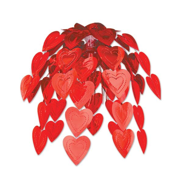 Rote Herzen Hängedekoration