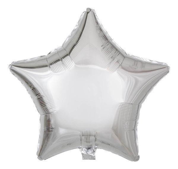 Folienballon Stern Silber 45cm