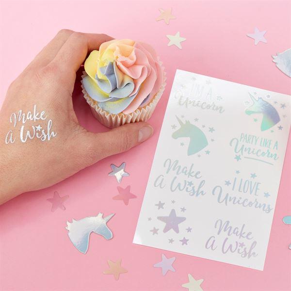 Make a Wish Einhorn - 16 Klebetattoos