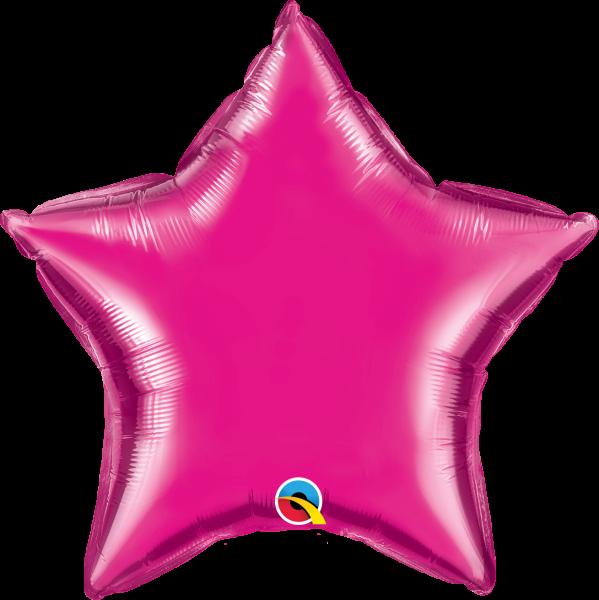 Folienballon Stern Pink 45cm