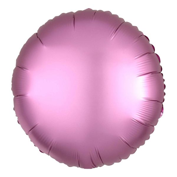 Folienballon Rund Satin Flamingo Rosa 45cm