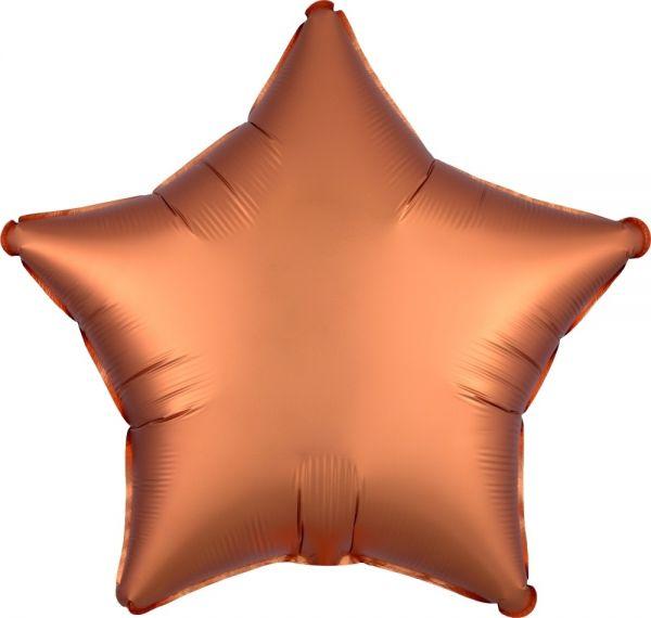 Folienballon Stern Satin Bernstein 45cm