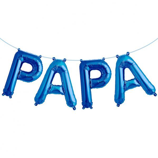 "Folienballon Girlandenset ""PAPA"" Blau"