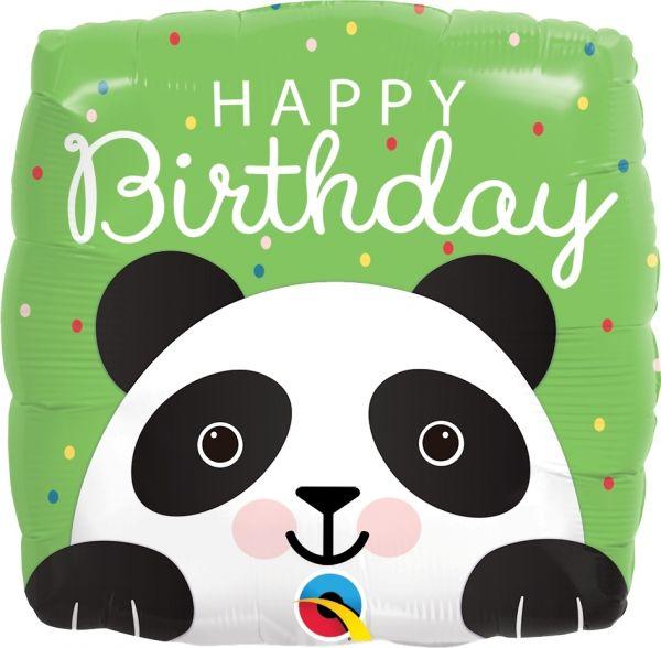 "Geburtstagsballon ""Happy Birthday"" Panda 45cm"