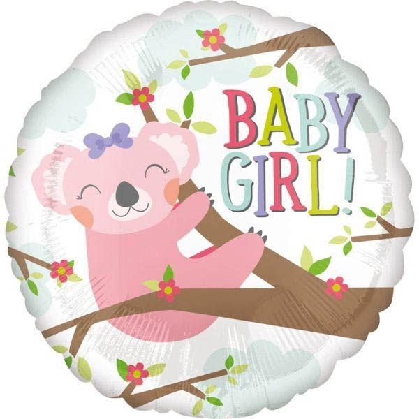 Folienballon Koala Baby Girl! 43 cm