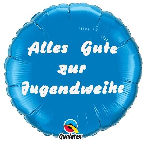 Folienballon Alles Gute zur Jugendweihe Blau 45cm