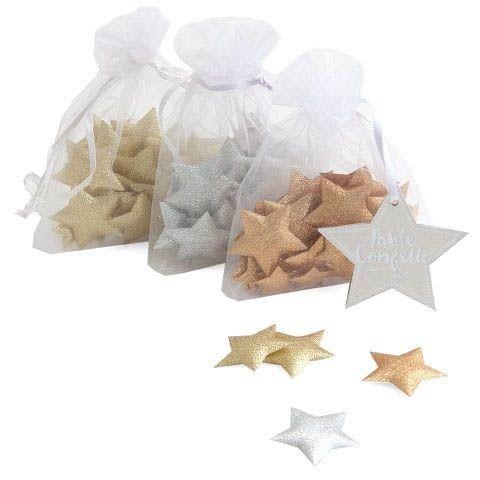 Puffsternchen Konfetti Gold, Silber oder Kupfer