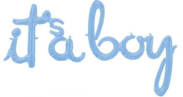 "Folienballon-Girlande Script ""it's a boy"""