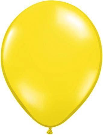Qualatex Luftballon Zitronengelb 13cm
