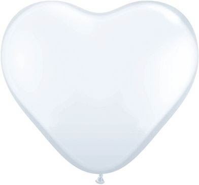 Latexballon Herz White Ø 35cm
