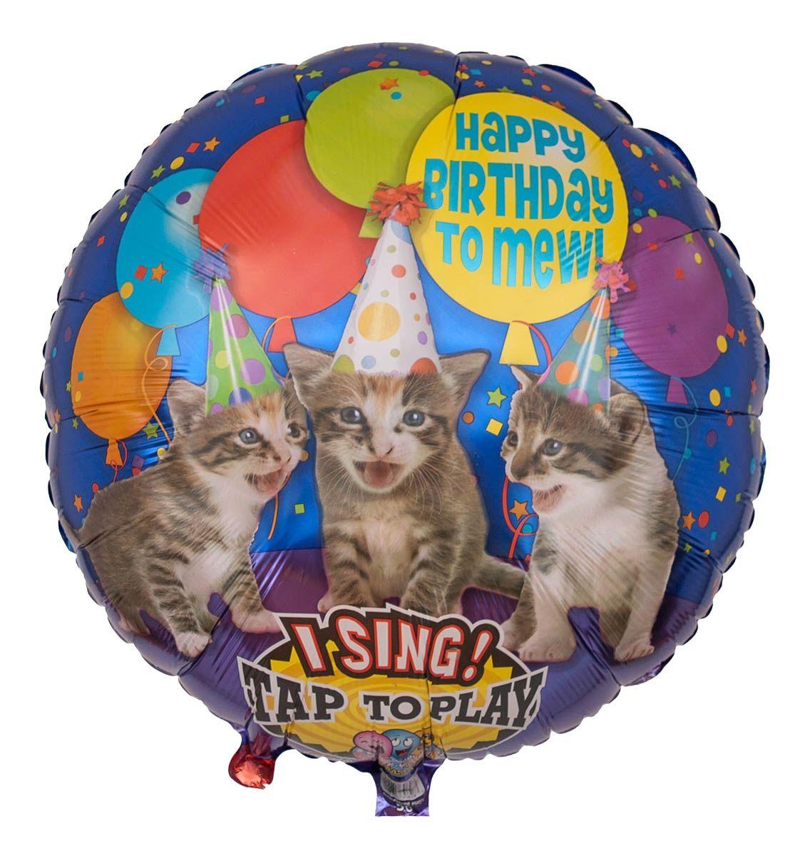 Musikballon Miauende Katzen Zum Geburtstag 71cm Musikballons