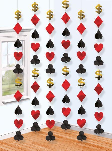 Casino Party - 6 Deko-Hänger