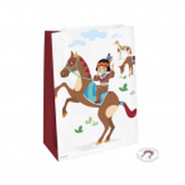 Indianer - 4 Geschenktüten aus Papier
