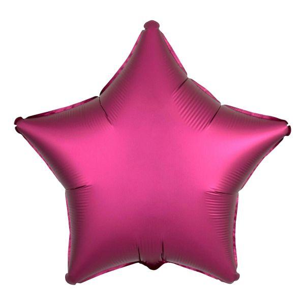 Folienballon Stern Satin Granatapfel Pink 45cm