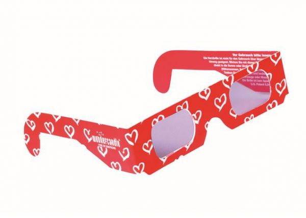 3D Brille Herzen
