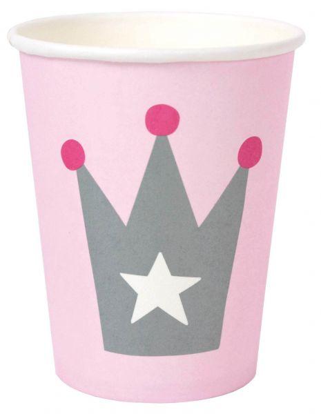 Prinzessin - 8 Pappbecher