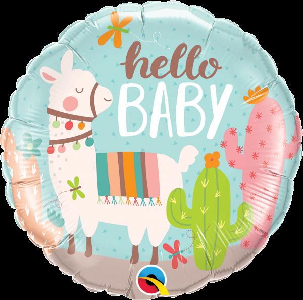 Folienballon Baby Lama 45cm