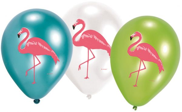 Flamingo - 6 Luftballons Ø 30cm