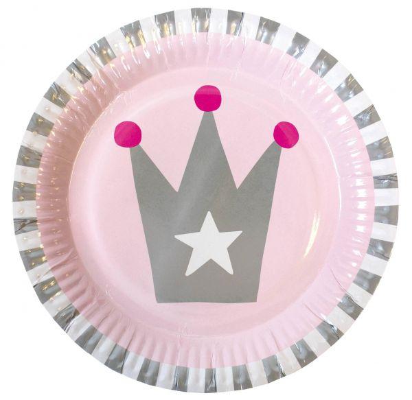 Prinzessin - 8 Pappteller