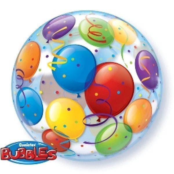 Bubble Ballon Bunte Ballons 56cm