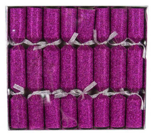 8 Knallbonbons Pink Glitter
