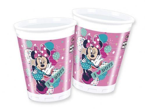 Minnie I love Dots - 8 Plastikbecher