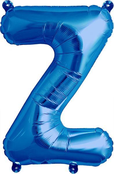 Luftballon Buchstabe Z Blau 40cm
