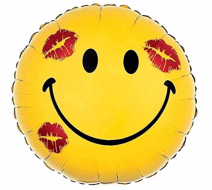Folienballon Smiley Mit Kusschen 45cm Liebe Liebe Hochzeit