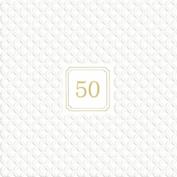 Goldhochzeit - 20 geprägte Servietten