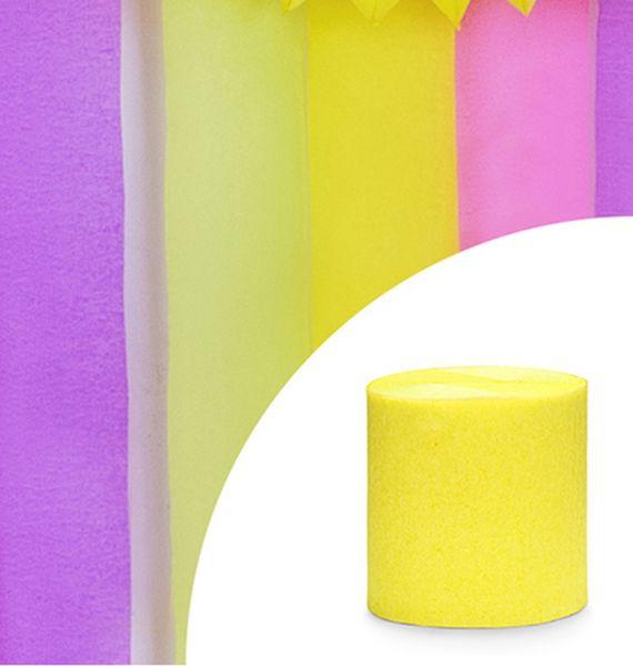 Kreppbänder in Gelb