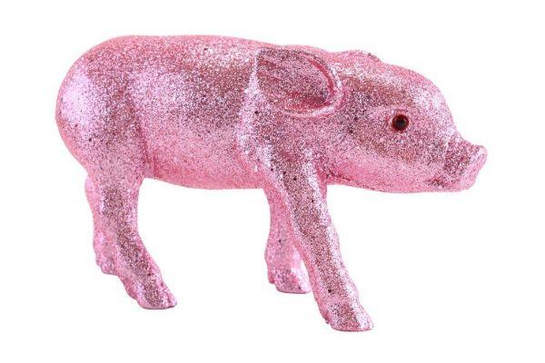 Solna Schweinchen L - Glitzer Rosa