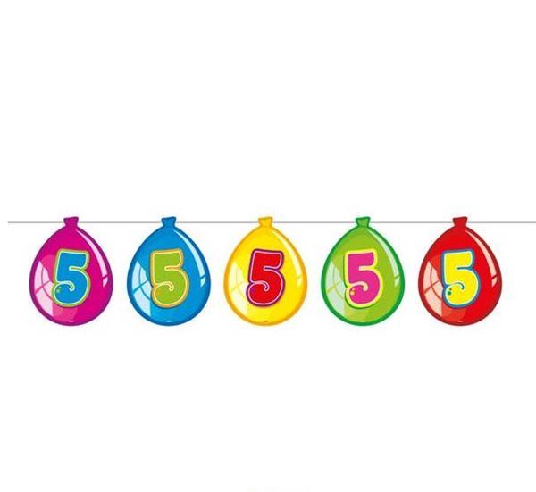 Luftballon-Wimpelkette zum 5. Geburtstag
