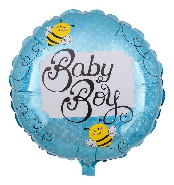 Folienballon Baby Boy Biene Holographic 43cm