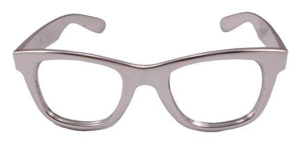 Silberne Party Brille