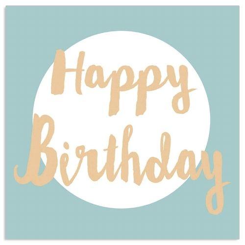Happy Birthday - 20 Geburtstags-Servietten Blau & Gold