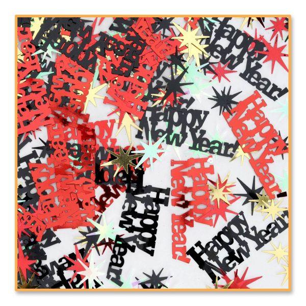 Happy New Year Konfetti Multi-Color