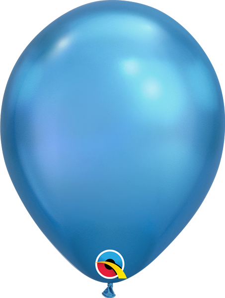 Qualatex Latexballon Chrome Blue Ø 30cm