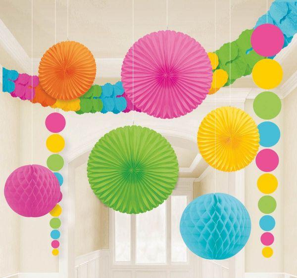 Multi Color - Dekorations-Set 9 tlg.