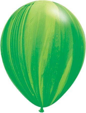 Qualatex Ballon Marmoriert Blau 30cm