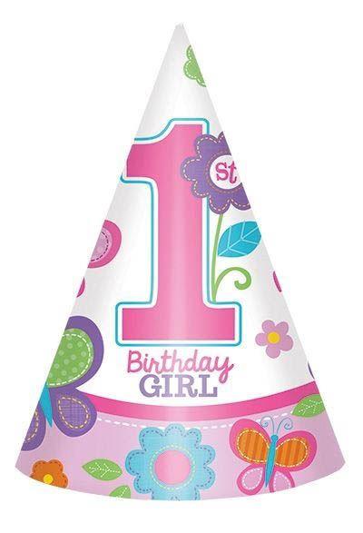 Sweet Birthday Girl - 1. Geburtstag 8 Partyhüte