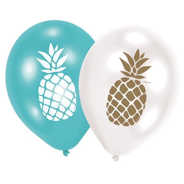 Ananas Party Vibes - 6 Luftballons 30cm