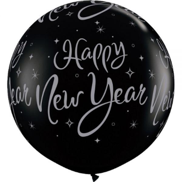 Qualatex Latexballon Gigant New Year Sparkle Ø 90cm
