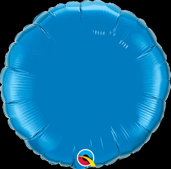 Folienballon Rund Saphirblau 45cm