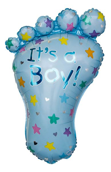 Folienballon Baby Fuß It's A Boy 58x82cm